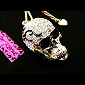 BETSEY JOHNSON~ Sugar Skull Necklace